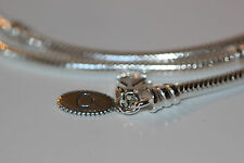 "AUTHENTIC PANDORA 590704 Retired Lobster clasp necklace 40cm 15.8"" w/ GIFT BOX!"