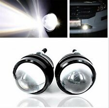 2Pcs LED White Fish Eye CREE DRL Projector Lens Fog Daytime Running Light Bulbs