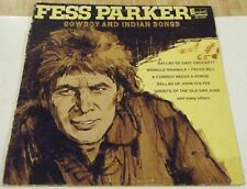 """FESS PARKER: COWBOY AND INDIAN SONGS ~ 12"""" Record - 33 rpm ~ Disney, 1969"""