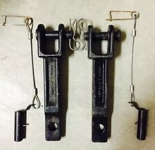Peterbilt / Kenworth Tow Hooks With Frame Pins Complete Pair With Clips