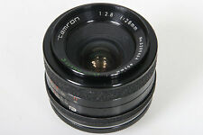 Tamron Adaptall 28mm, f/2.8. With Pentax M42 Screw Mount Converter