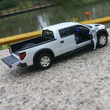 Ford F-150 SVT Raptor Car Model Alloy Diecast 1:32 Sound&Light Toys Pickup White
