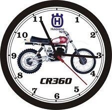 1976 HUSQVARNA CR360 MOTOCROSS WALL CLOCK