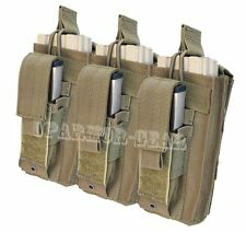 MOLLE 5.56 mm open top + Pistol Triple Kangaroo Mag Pouch TAN (CONDOR MA55)
