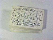 1950's HANDICAP CARDS Graphic Score Book Co. PARK RIDGE Illinois 50 Pcs