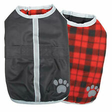 MEDIUM ZACK & ZOEY REVERSIBLE NOR'EASTER DOG BLANKET COAT bichon pug clothing M