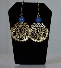 Base metal gold tone Dangle Earrings Handmade fashion Jewelry India
