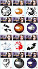 Halloween Face/Eye Sticker Fun Temporary Tattoo Ghost Skull Witch Pumpkin Spider