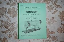 Singer Sewing Machine 211G Service Manual & Applicable: 111G 111W 211U 211W 411U