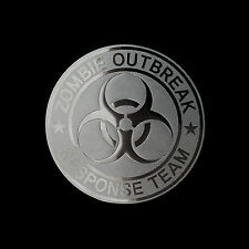 Zombie Outbreak Response Team Metal Decal for Motorcycle Car Truck deco (Sv)
