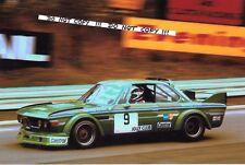 9x6 Photograph  Carlo Facetti  Jolly Club  BMW 3.0 CSL ,  ETC Salzburgring 1974
