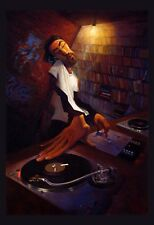"""The DJ"" by Justin Bua - African American Art - Urban Art"