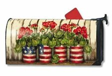 Magnet Works Glory Garden American Flag Original Magnetic Mailbox Wrap Cover