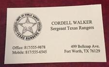 Walker Texas Ranger Business Card Chuck Norris Interest TV Show