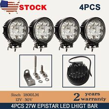 4x 27W Round Flood LED Work Light Offroad Fog Driving Lamp SUV 4WD ATV Truck DRL