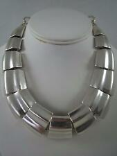 Robert Lee Morris matte silver plated thick necklace, NWReticket