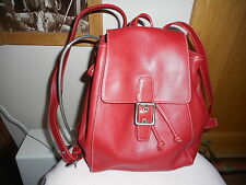 Coach Red leather small backpack handbag purse #9569