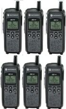 Lot of 6 Motorola DTR410 900 MHz ISM Digital On-Site Business Two-Way Radios