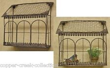 Chicken Wire & Metal Hanging/Sitting SHELF/Bird Cage/House Planter*Bird Feeder