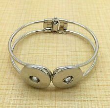NEW Hot Jewelry Round bracelets Fit for DIY noosa snaps chunk charm button PHE02