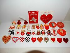 Vintage Hallmark Pins Lot of Valentine's Day Lapel Pins Brooches CHOICE