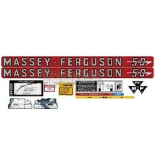 Massey-Ferguson MF 50 MF50 Tractor Complete Decal Set