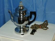 FARBERWARE VINTAGE COFFEE POT URN PERCOLATOR 201 GLASS TOP 1940 BROOKLYN, NY