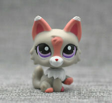 Littlest Pet Shop LPS Animals Toy #1921 Grey Pink & White Wolf Dog Loose