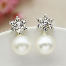 Star Charms Earrings Women Fashion Crystal Pearl Ear Studs Jewelry Korean Sale