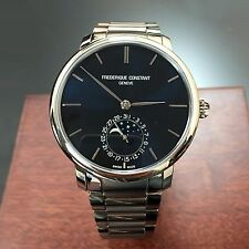 FREDERIQUE CONSTANT MOONPHASE MENS WATCH FC-705N4S6B2 MSRP $3,795.00