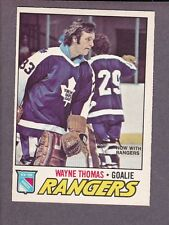 1977-78 O-Pee-Chee OPC Hockey Wayne Thomas #19 Maple Leafs NY Rangers NM/MT