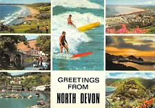 B97026 greetings from  north devon  surf  uk