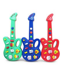 Cute Baby Kids Electronic Guitar Toy Rhyme Developmental Music Piano Toy Game