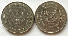Singapore 2nd Series 10 cents coin 2 pcs