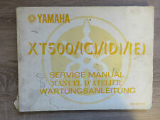 Yamaha Maintenance manual XT500 C/d /E service manual manuel d´studio