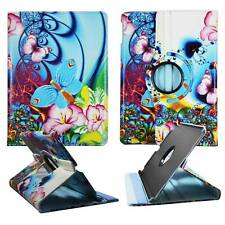 Tablet BluePink Flower Butterfly For Apple Ipad Air  360 Rotate Case Cover Stand
