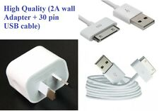 Apple iphone 4 4S wall charger ( 2A Adapter + 30 pin USB cable, Aus Stock)
