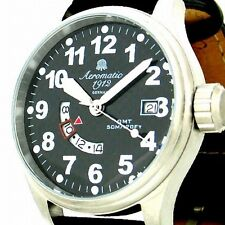 German Military Defender GMT World Time CARBON DIAL A1288