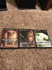 SILENT HILL 2, 3 4 SONY PLAYSTATION 2 PS2 GAMES LOT! 100% COMPLETE! NO RESERVE!