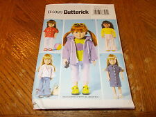 """Butterick Pattern B4089~ 18"""" DOLL CLOTHES~ Fun Outfits ~ Pants, Jacket, Top, Etc"""