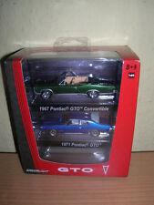 Greenlight GTO 2er Pack 1967 Pontiac Convertible grün / 1971 Pontiac blau 1:64