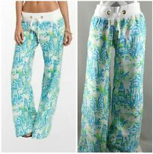 Lilly Pulitzer Small Beach Pants High Beams Lighthouse Turquoise Womens kg1