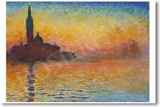 Claude Monet - San Giorgio Maggiore at Dusk - NEW French Fine Art Print POSTER