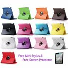 New 360 Rotating PU Leather Stand Case Smart Cover iPad 4 4G Gen 3rd 2