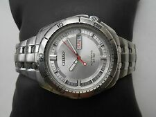 ULTRA RARE VINTAGE SEE THROUGH CITIZEN SPORTS 100 M RESIST AUTOMATIC MENS WATCH
