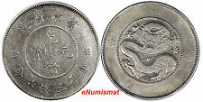 China YUNNAN PROVINCE Silver N.D. (1920-31) 50 Cents Four Circles Y# 257.2(8852)