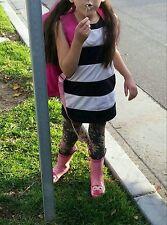 Western Chief Girls Pink Polka Dot 3D Owl Bulging Eye Balls Rain Boots Sz 11/12