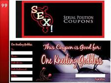 Sex! Sexual Position Coupons Book | Naughty Gift Saucy Vouchers