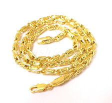 "fashion1uk 14K Yellow Gold Plated Chain Medium Length 19.5"" 50cm Chain Necklace"