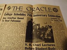 """1960 """"THE ORACLE"""" Monday October 17th_New Paltz University Paper"""